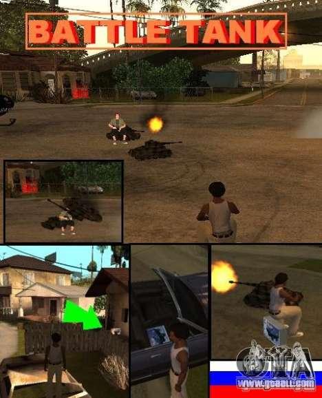 BATTLE TANK for GTA San Andreas