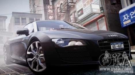 Audi R8 Spyder 5.2 FSI Quattro V4 [EPM] for GTA 4 interior