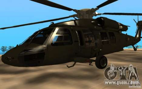 UH-60 Silent Hawk for GTA San Andreas right view