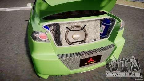 Mitsubishi Lancer Evolution X Tuning for GTA 4 inner view