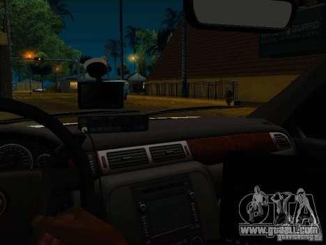 Chevrolet Tahoe Texas Highway Patrol for GTA San Andreas inner view