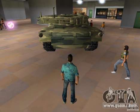 Camo tank for GTA San Andreas right view