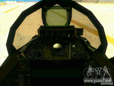 F-14 Tomcat Razgriz for GTA San Andreas side view