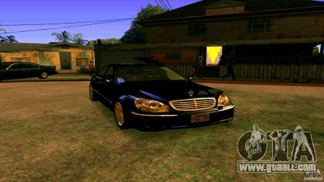 Mercedes S500 for GTA San Andreas right view