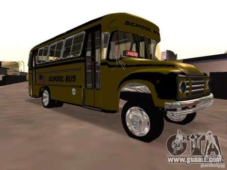 Bedford School Bus for GTA San Andreas inner view