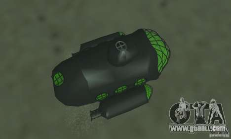 Submarine for GTA San Andreas back view