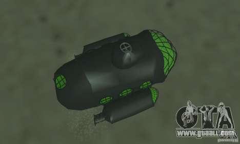 Submarine for GTA San Andreas back view