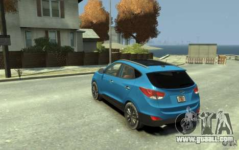 Hyundai IX35 2010 Beta for GTA 4 back left view
