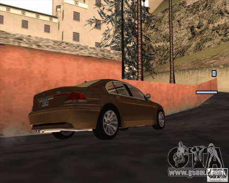 BMW 760i for GTA San Andreas right view