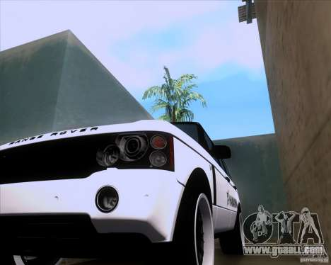Range Rover Hamann Edition for GTA San Andreas back view