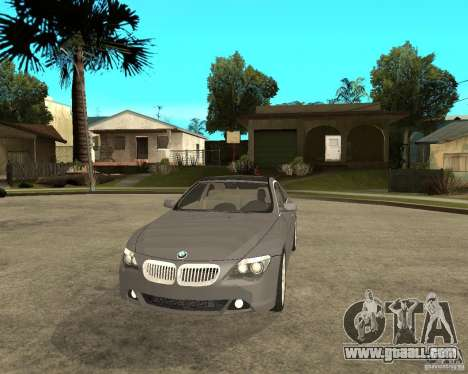 BMW 645Ci 04 for GTA San Andreas back view