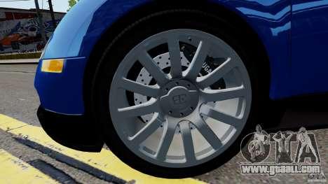Bugatti Veyron 16.4 v1.0 wheel 2 for GTA 4 back view