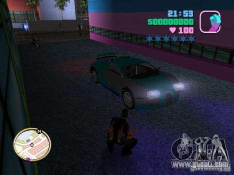 Bugatti Veyron for GTA Vice City left view