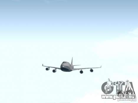 Boeing 747-400 China Airlines for GTA San Andreas inner view
