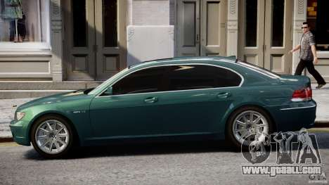 BMW 7 Series E66 for GTA 4 side view