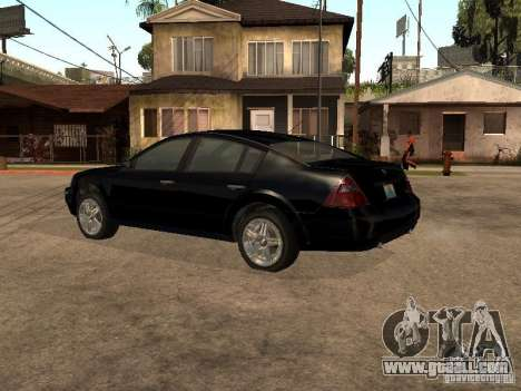 Nissan Teana for GTA San Andreas back left view