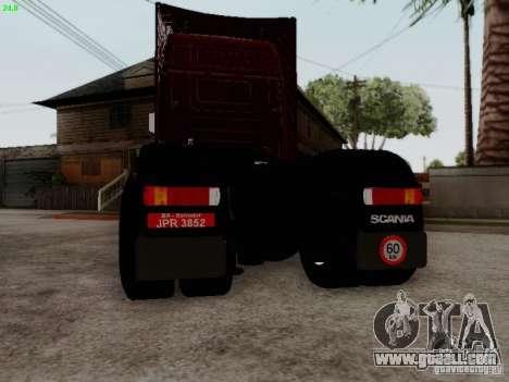 Scania R580 V8 Topline for GTA San Andreas back view
