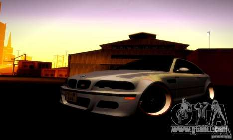 BMW M3 JDM Tuning for GTA San Andreas inner view