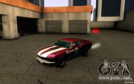 Ford Mustang Boss 302 for GTA San Andreas upper view