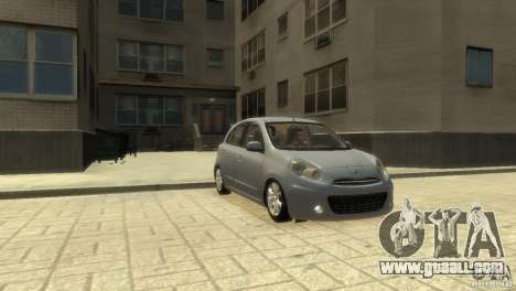 Nissan Micra for GTA 4 back left view