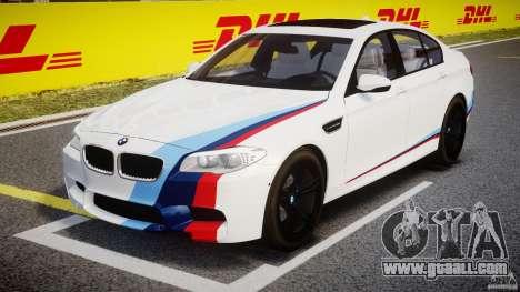 BMW M5 F10 2012 M Stripes for GTA 4 inner view