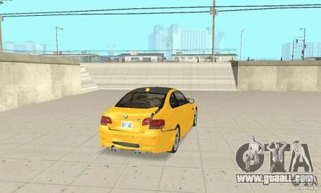 BMW M3 2008 for GTA San Andreas bottom view