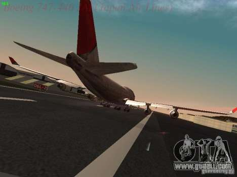 Boeing 747-446 Japan-Airlines for GTA San Andreas right view