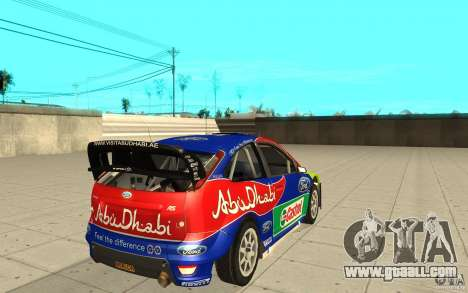 2 painting works for the Ford Focus RS WRC 08 for GTA San Andreas left view