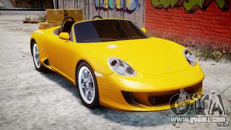 Ruf RK Spyder v0.8Beta for GTA 4 inner view