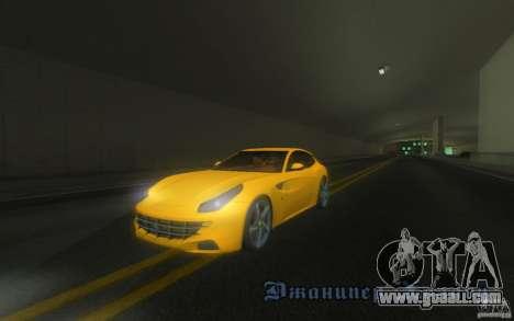 Ferrari FF for GTA San Andreas side view