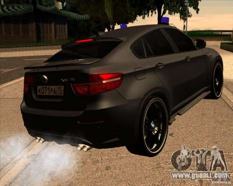 BMW X6 M E71 for GTA San Andreas back left view