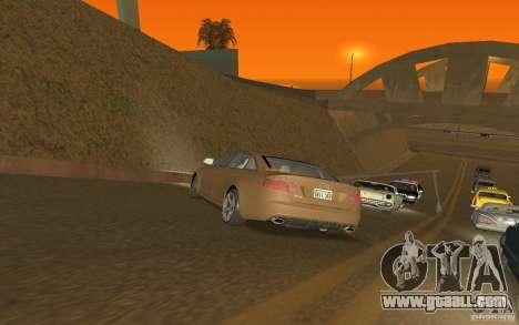 Audi RS6 TT Black Revel for GTA San Andreas back left view