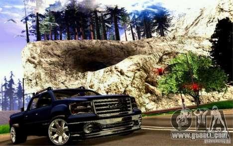 GMC Sierra 2011 for GTA San Andreas back view