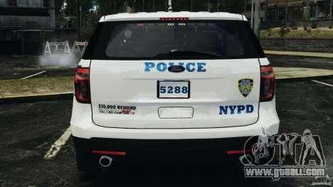 Ford Explorer NYPD ESU 2013 [ELS] for GTA 4 bottom view