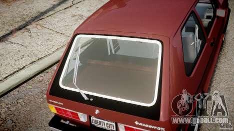 Volkswagen Rabbit 1986 for GTA 4 side view