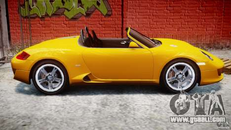 Ruf RK Spyder v0.8Beta for GTA 4 side view