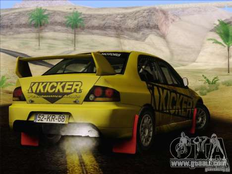 Mitsubishi Lancer Evolution IX Rally for GTA San Andreas