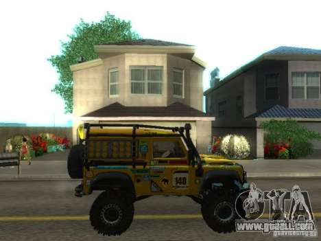 Land Rover Defender Off-Road for GTA San Andreas inner view