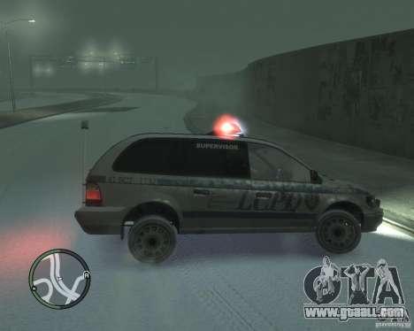 LCPD Minivan for GTA 4 left view