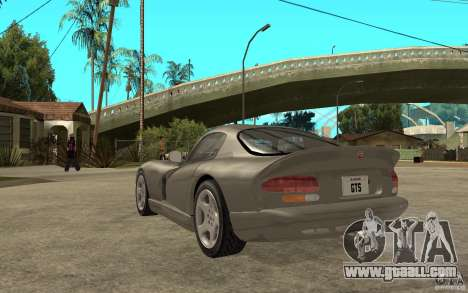 Dodge Viper GTS for GTA San Andreas back left view