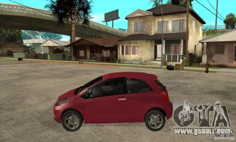Toyota Yaris for GTA San Andreas left view