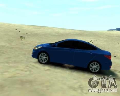 Hyundai Solaris Arab Edition for GTA 4 back left view