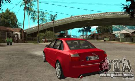 Audi S4 2004 for GTA San Andreas back left view