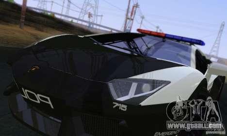 Lamborghini Aventador LP700-4 Police for GTA San Andreas inner view