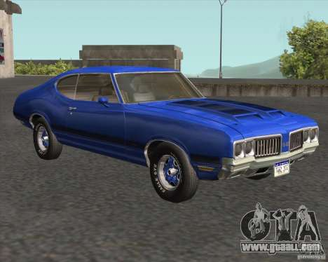Oldsmobile 442 (fixed version) for GTA San Andreas back view