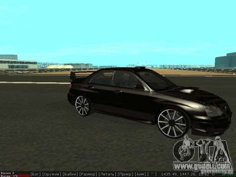 Subaru Impreza WRX for GTA San Andreas left view