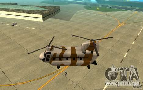 GTA SA Chinook Mod for GTA San Andreas upper view