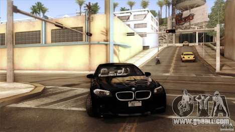 BMW M5 F10 2012 for GTA San Andreas engine