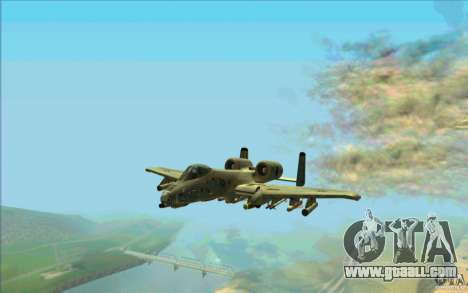 A-10 Warthog for GTA San Andreas