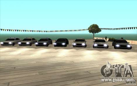 Mercedes-Benz S65 AMG with flashing lights for GTA San Andreas back left view